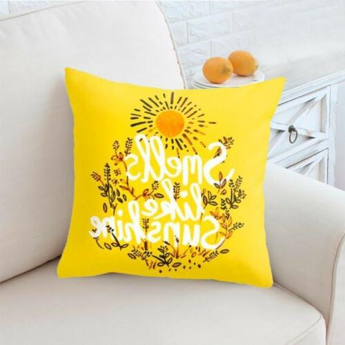 Yellow Case Sofa Cushion Cover USA