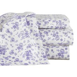 Lavender Floral Sheet Set With Extra Pillowcases, by Collect