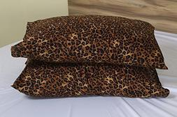 Leopard Print Premium 600 Thread Count Ultra-Soft Egyptian C