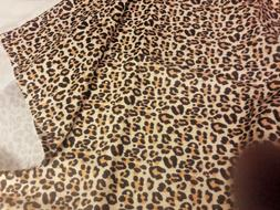 "LEOPARD PRINT STANDARD SIZE PILLOW CASE 20"" x 30""  NEW 100%"