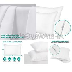 Adoric Life Pillow Cases Queen Size - 100% Brushed Microfibe