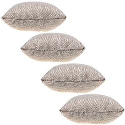 BCP 4-pieces Small Linen Bracelet Watch Pillow Jewelry Displ