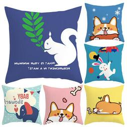 Lovely Animal Throw Pillow Case Cushion Cover Sofa Bed Car H