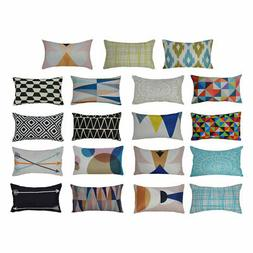 Lumbar Pillow Cover Throw Pillow Case Decoration w Hidden Zi