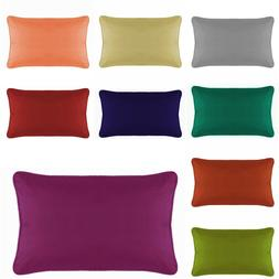 Lumbar Pillow Cover with Piping Zipper Travel / Toddlers / C