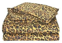 Luxurious Bedding Set Leopard/Zebra Print 800 Thread Count P
