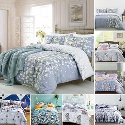 Luxury 100% Cotton Duvet Cover with Pillow Case Quilt Cover