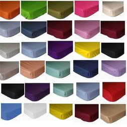 Luxury 100% Egyptian Cotton Fitted Bed Sheet 400 Thread Coun