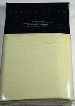 Set of 2 Ralph Lauren Luxury Oxford King Size Pillowcases Ye