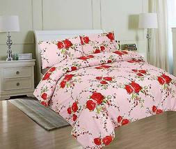 Luxury Printed Polycotton Quilt  Duvet Cover set with pillow