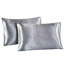 DreamX Luxury Silk Satin Pillowcase for Hair and Skin 2 Pack