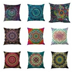 Mandala Style Indian Throw Pillow Case Cushion Cover Sofa Ho