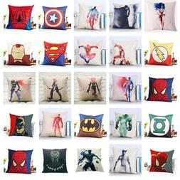 Marvel DC JLA Cushion Cover Super Hero Waist Sofa Throw Pill
