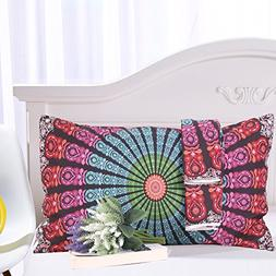 Sleepwish Medallion Motif Pillow Case All Over Hippie Floral