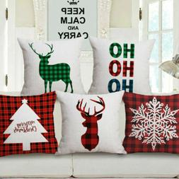 Merry Christmas Xmas Gift Designed Throw Pillow Case Cover C