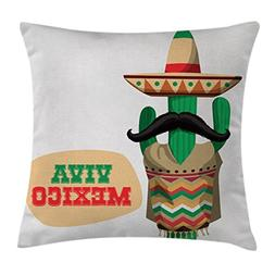 Ambesonne Mexican Decorations Throw Pillow Cushion Cover by,