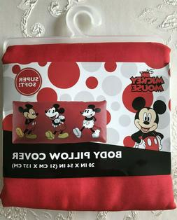 Mickey Mouse Body Pillow Case Cover Disney Red Soft Long 20