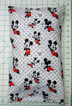 mickey mouse on white and gray small