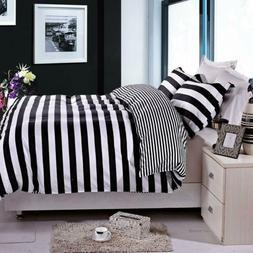 NTBAY 3 Pieces Duvet Cover Set, Reversible Black and White S