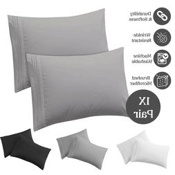 Pillow Case Set Queen King Size Set of 2 Hypoallergenic Micr