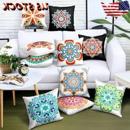 Morocco Square Throw Pillow Case Waist Cushion Cover Bed Sof