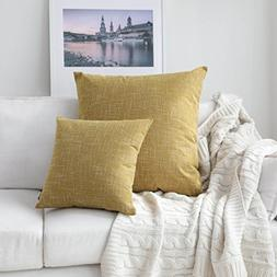 Kevin Textile Decorative Linen Pillowcases for Couch/Sofa/Be