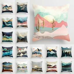 Landscape Painting Pillow Cases Home Bed Sofa Waist Throw Cu