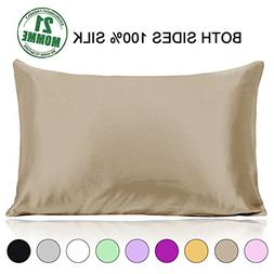 Ravmix Mulberry Silk Pillowcase Queen Size 21 Momme 600 Thre