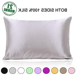 Ravmix 100% Pure Mulberry Slip Silk Pillowcase for Hair and