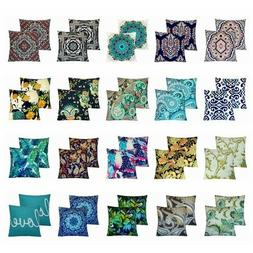 2 Pack Bohemian Fancy Throw PILLOW COVER Sofa Couch Bed Deco