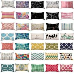 Multi-color Rectangle Pattern Soft Pillow Case Cushion Cover