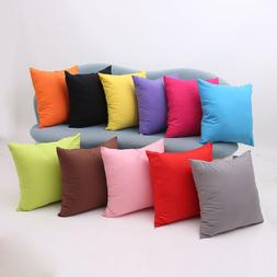 Multicolor Solid Pillow Case Polyester Cushion Cover Decorat
