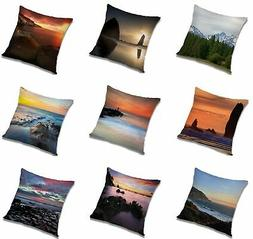 Nature Square Polyester Pillow Case Throw Back Pillow Case 1