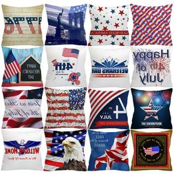 New 4th OF July Independence Day Exquisite Pillow Cases Sofa