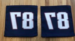 "NEW ENGLAND PATRIOTS 16"" Pillow Case Cover Gronkowski 81 NFL"