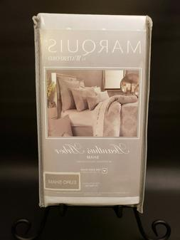 "New Waterford Marquis European Sham ""Acanthus Arbor"" Grey Pi"