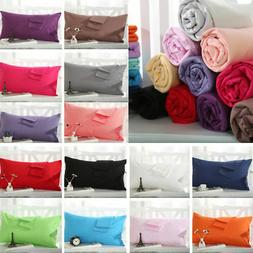 NEW Solid Queen/Standard Cotton Pillow Case Bedding Pillowca