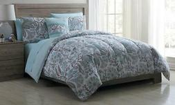 NEW VCNY Bed-In-A-Bag Set with Sheets 8-Piece - Dena-Neutral