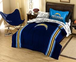 NFL San Diego Chargers Twin Bed in a Bag with Applique Comfo