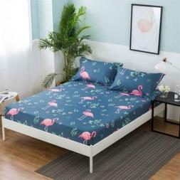 one piece printing Fitted sheet twin full queen king size,be