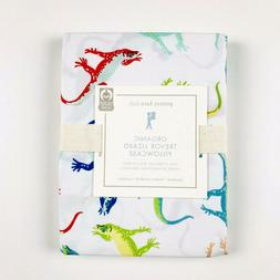 Pottery Barn Kids Organic Trevor Lizard Pillow Case Standard