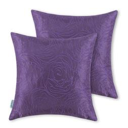 Pack of 2 Cushion Covers Throw Pillow Cases- 18*18-Purple