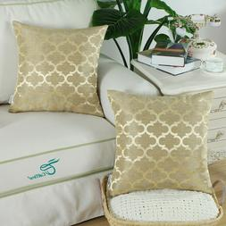 Pack of 2 Square Cushion Covers Pillow Cases Home Decor Acce