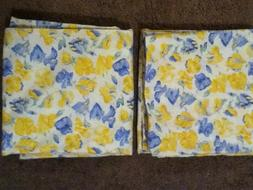 Laura Ashley Pair of King Size Yellow/White/Blue Floral Pill