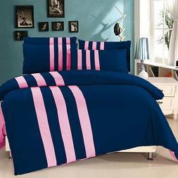 Patchwork Reversible Duvet Set with Fitted 800 TC Egyptian C