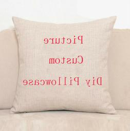 Personalised Printed Photo Pillow Case Custom Print Cushion