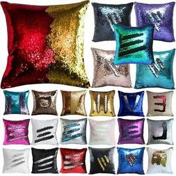 Pillow Case Cushion Cover Sequin Mermaid Slip Change 40*40 M