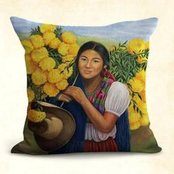 pillow case for couch Mexican hipspanic art cushion cover