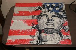Pillow Case Statue of Lİberty NYC Square Cushion Cover 17.5