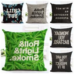 Pillow Case with Letters Printed for Couch/Sofa/Bedroom/Livi